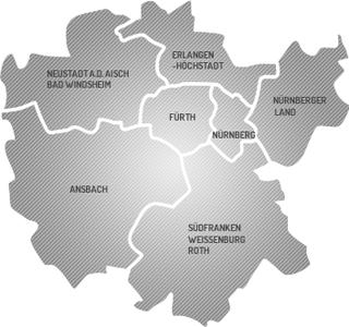 Mittelfranken Karte.Aebv Mittelfranken Kreisverbände